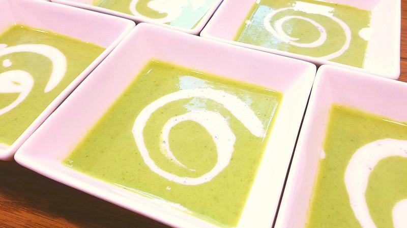 スナップえんどう&新じゃがの冷製スープ